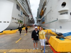 Docked at Costa Maya, Mexico tagged and categorized